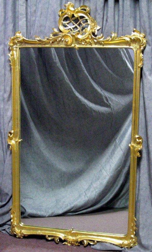 273: ORNATE GOLD LEAF FRAMED MIRROR