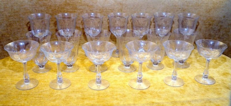 4: ETCHED GLASSWARE