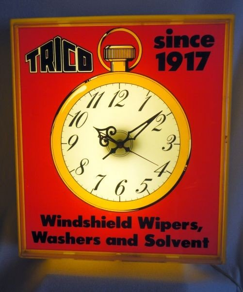 8: TRICO LIGHTED ADVERTISING CLOCK