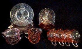 8: JEANNETTE CUBIST GLASS LOT