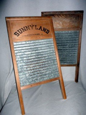 TWO VINTAGE WASHBOARDS