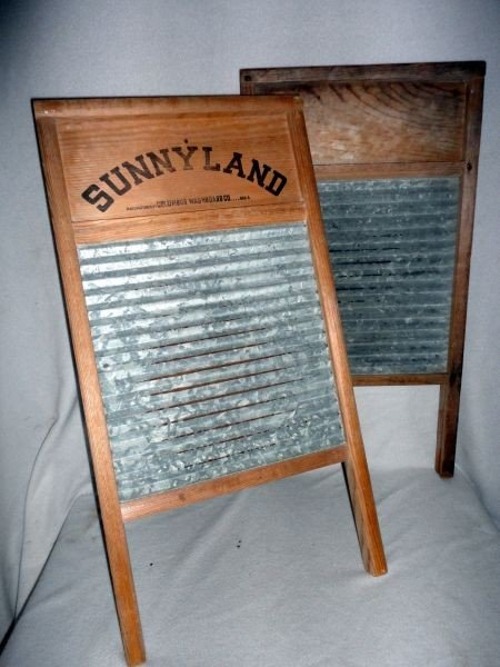 13: TWO VINTAGE WASHBOARDS