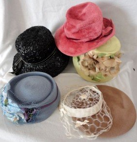 16: SIX VINTAGE HATS