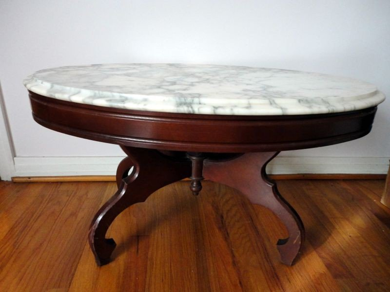 74: MARBLE TOP COFFEE TABLE