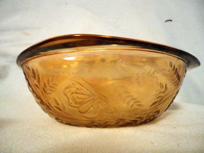 355: FLORA GOLD DEPRESSION GLASS LOT - 7