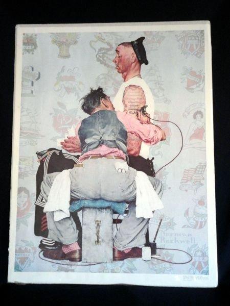 "96: NORMAN ROCKWELL ""THE TATTOO ARTIST"""