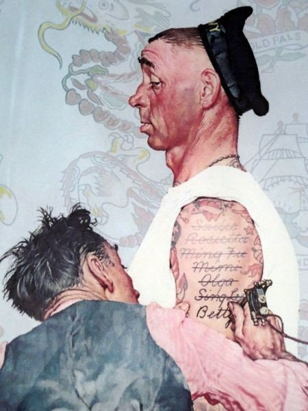 "96: NORMAN ROCKWELL ""THE TATTOO ARTIST"" - 2"