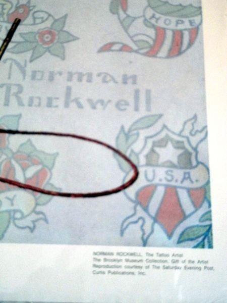 "96: NORMAN ROCKWELL ""THE TATTOO ARTIST"" - 4"