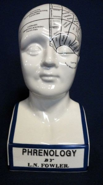 97: L.N. FOWLER PHRENOLOGY HEAD