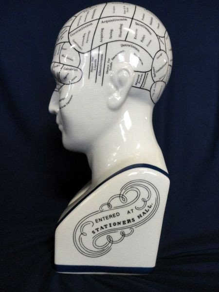 97: L.N. FOWLER PHRENOLOGY HEAD - 2