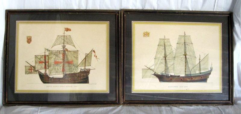 243: TWO H.A. MUTH SHIP LITHOGRAPH PRINTS