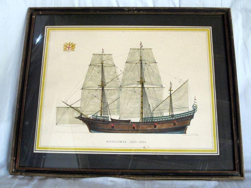 243: TWO H.A. MUTH SHIP LITHOGRAPH PRINTS - 2