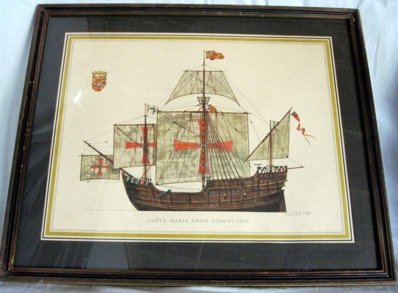 243: TWO H.A. MUTH SHIP LITHOGRAPH PRINTS - 6