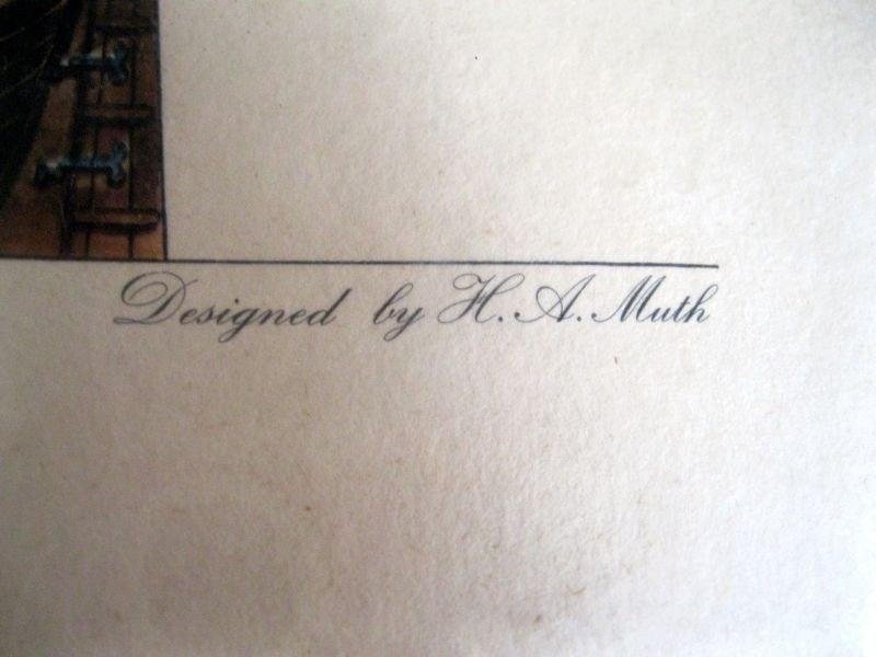243: TWO H.A. MUTH SHIP LITHOGRAPH PRINTS - 8