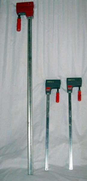 22: BESSEY UNICLAMP THREE BAR CLAMPS