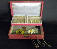 287 COSTUME JEWELRY AND BOX