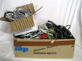 ASSORTED ELECTRONIC WIRES & CONNECTORS