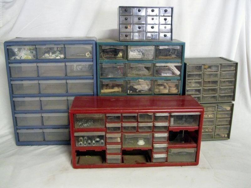 90: SIX DURABLE STORAGE CONTAINERS