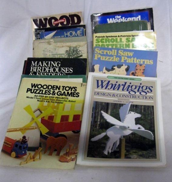 91: THIRTEEN WOODWORKING BOOKS