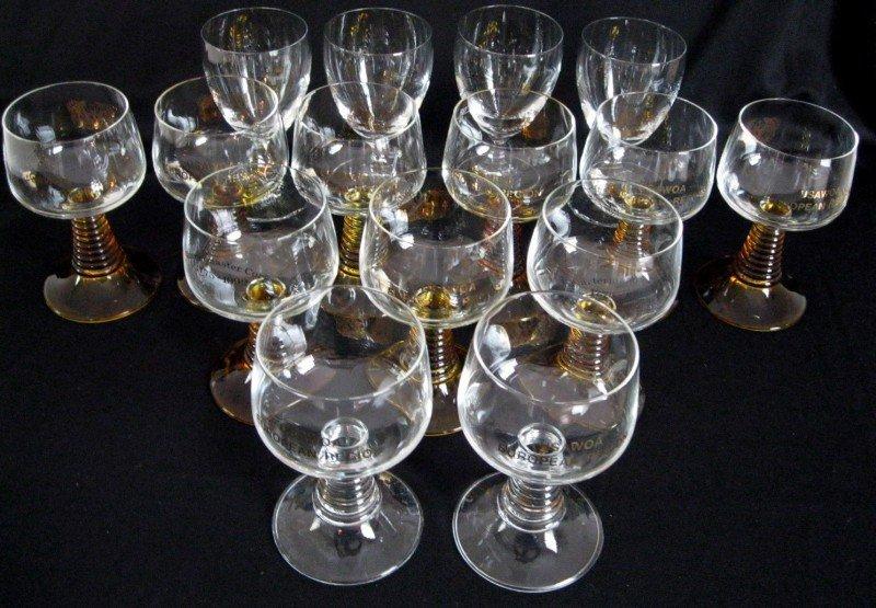 8: 15 WINE GLASSES