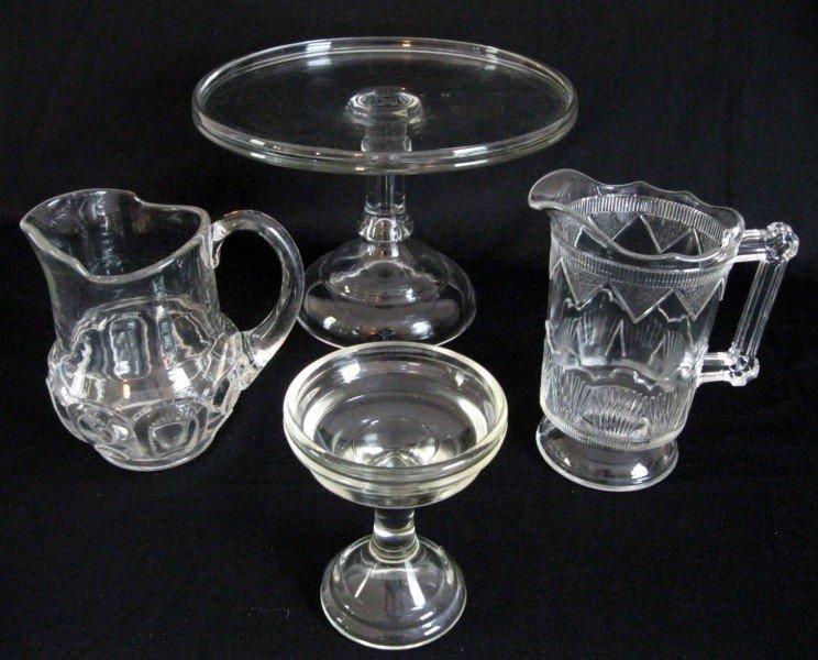 11: OLDER PRESSED GLASS LOT