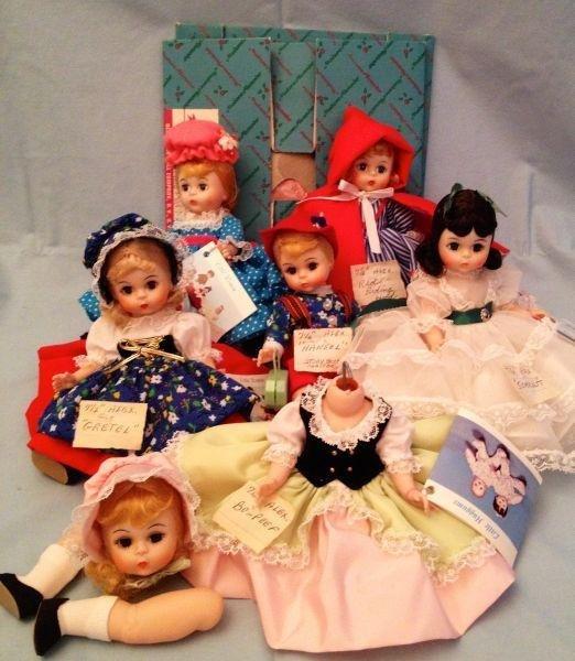 "3: Madame Alexander 7.5"" Storybook Dolls"
