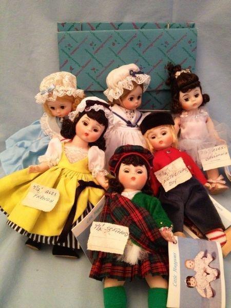 """4: Madame Alexander 7.5"""" Dolls"""