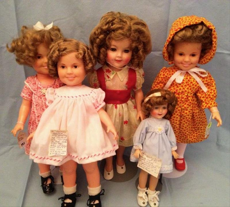 19: 5 Shirley Temple Dolls