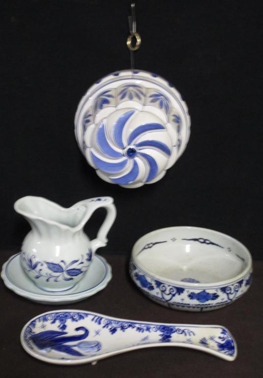 Delft Blue Pottery Lot