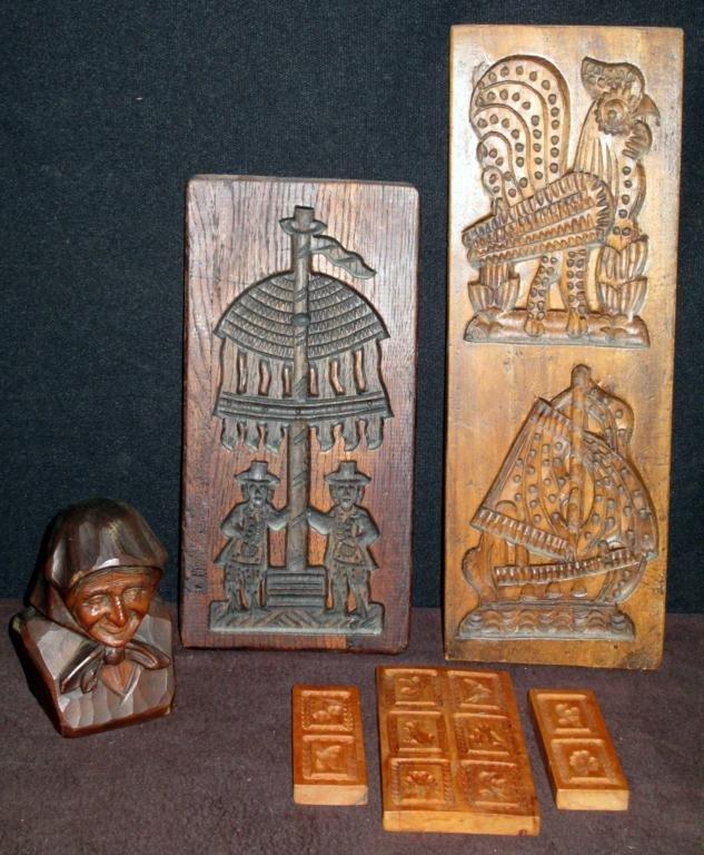 Decorative Wood Cookie Molds