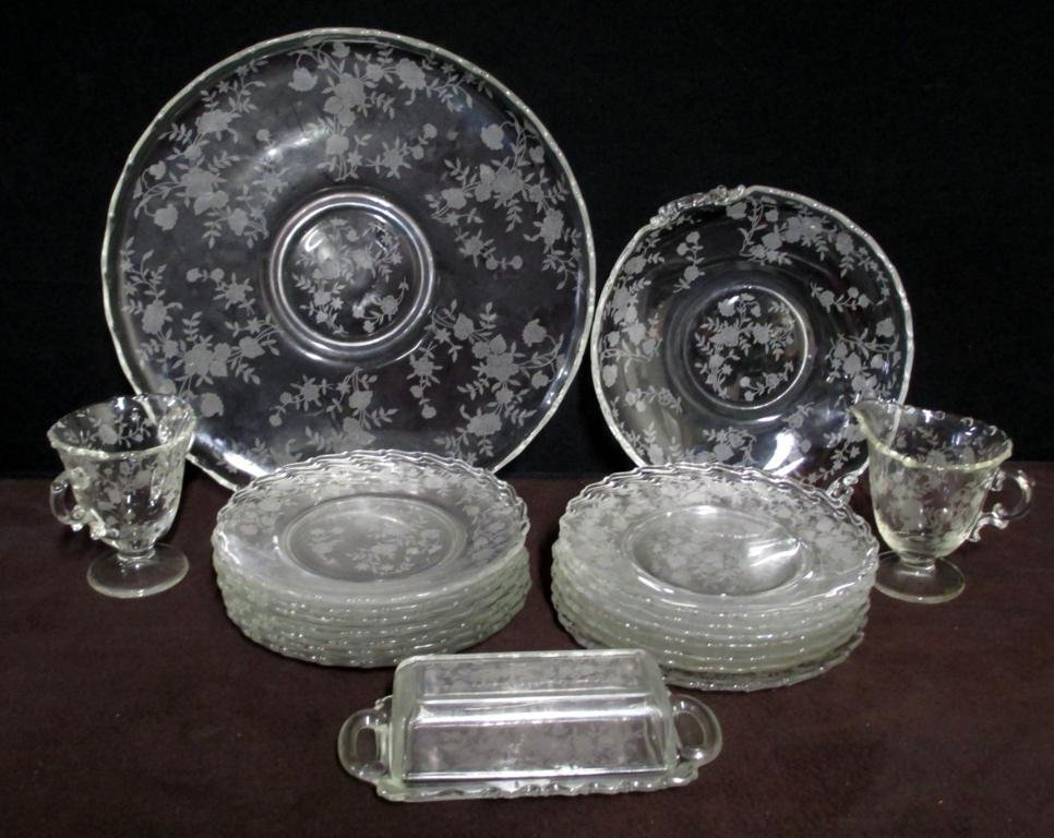 Etched Glass Lot