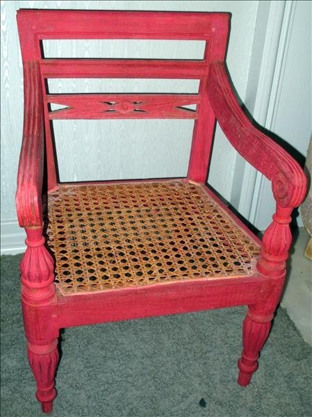 HAND-CANED CHILD'S CHAIR