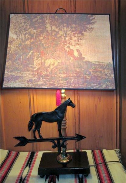 HORSE WEATHER VANE LAMP