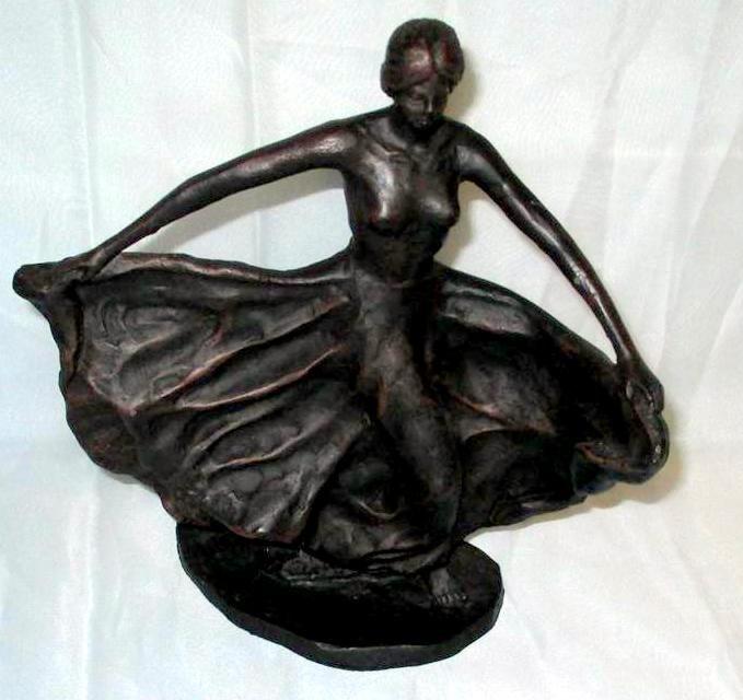 Metal Art Noveau Dancer