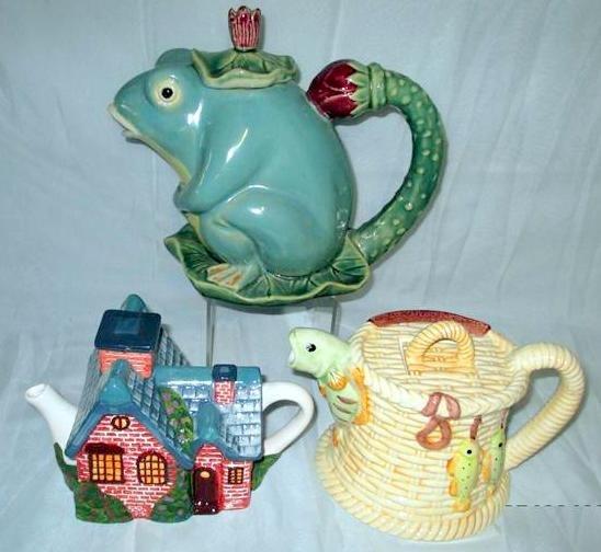Trio of Fantasy Teapots