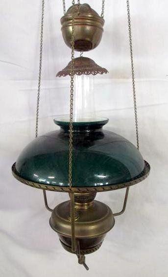 Hanging Brass Oil Lamp