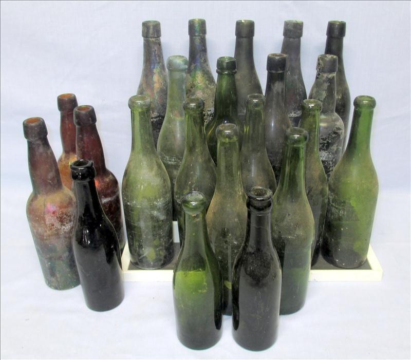 22 Wine and Beer Bottles