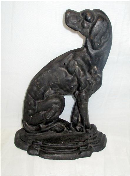 Black Cast Iron Dog Doorstop