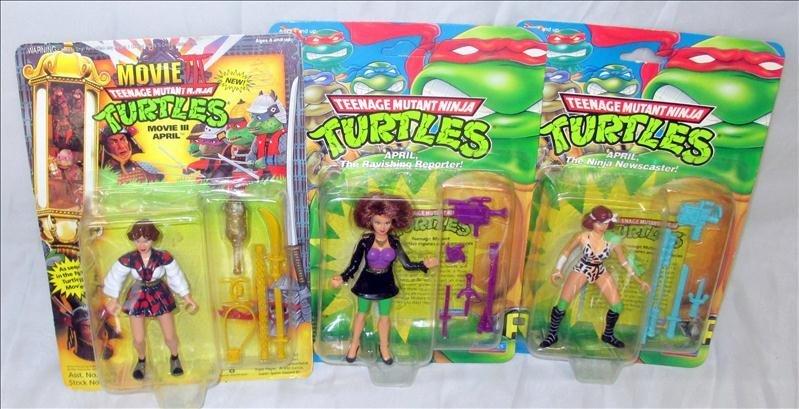 Three April Teenage Ninja Turtles