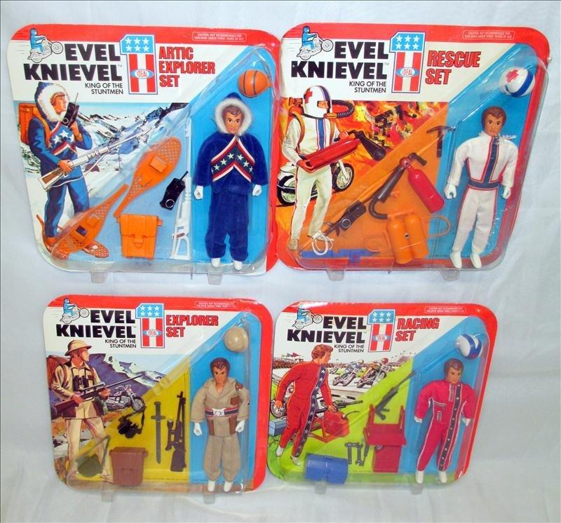 4 Evel Knievel Stuntmen Sets