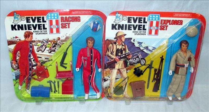 2 Evel Knievel Stuntmen Sets