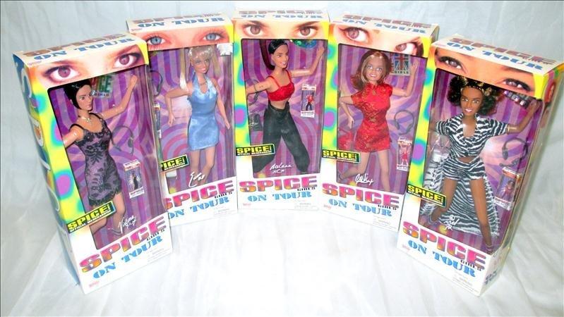6 Galoob Spice Girls Dolls on Tour