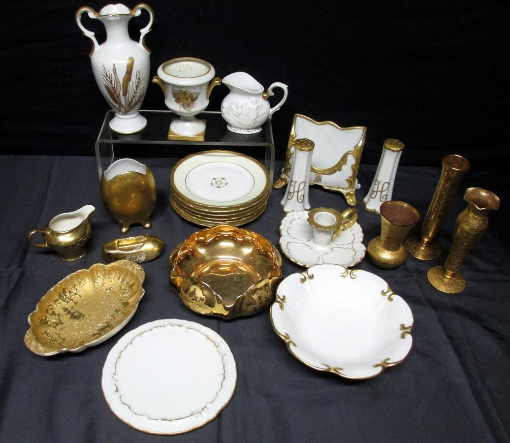 Decorated Porcelain & Glass