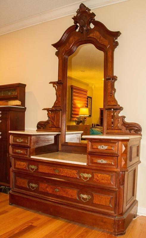 Renaissance Revival Walnut Victorian Dresser