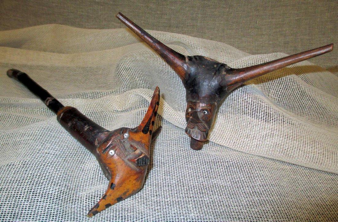 Primitive Carved Pipes