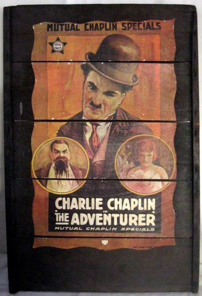Charlie Chaplin Poster on Board