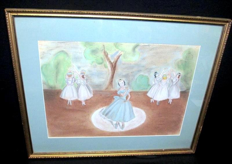 Framed Ballerinas in Chalk