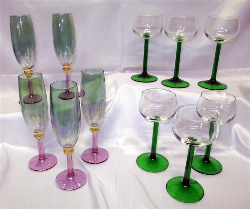 Colored Stemware