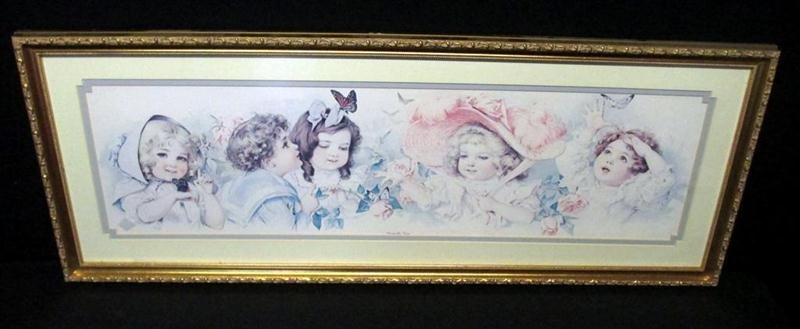 Vintage Little Ladies Print