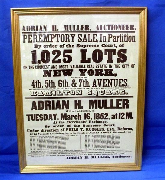New York Land Auction Advertisement